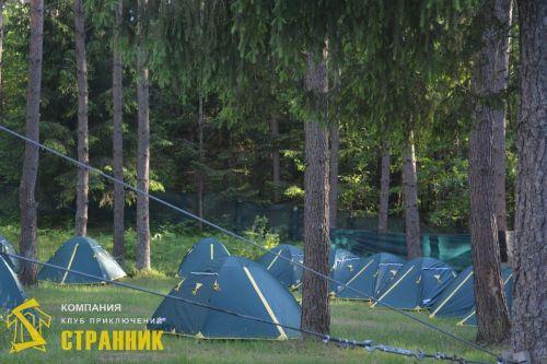 Палаточный городок для МТБанка